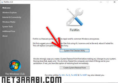برنامج اصلاح ويندوز 7 عربي مجاني