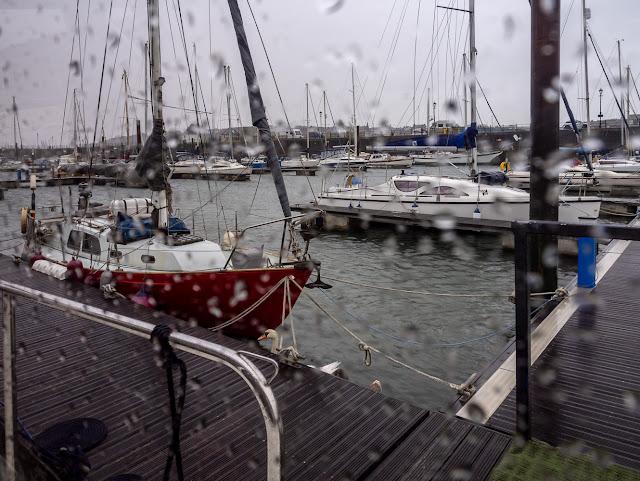 Photo of soggy Sunday at Maryport Marina