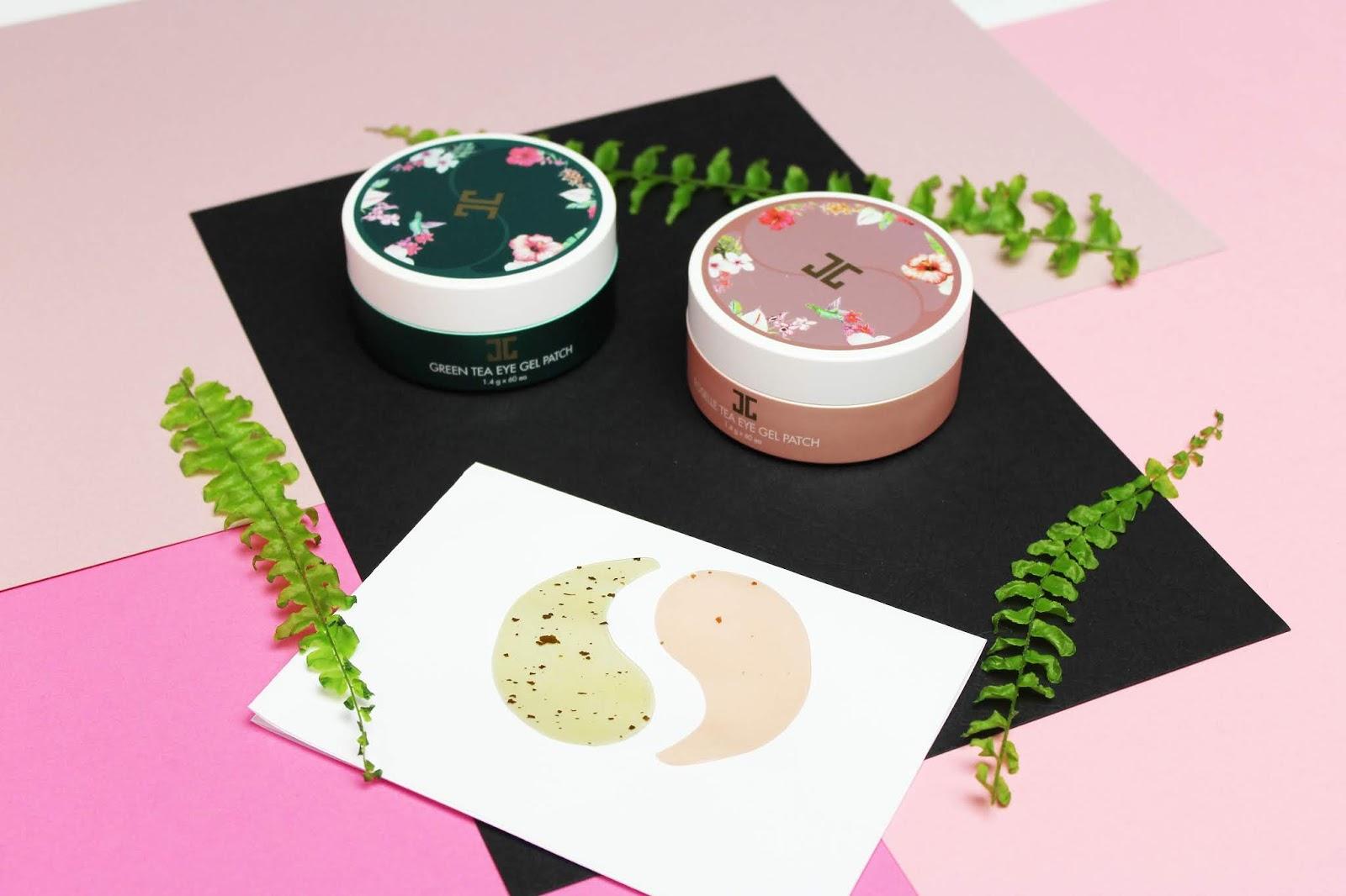 JAYJUN, Roselle and Green Tea Eye Gel Patches - Hydrożelowa płatki pod oczy z zawartością zielonej herbaty oraz wyciągu z kwiatu hibiskusa