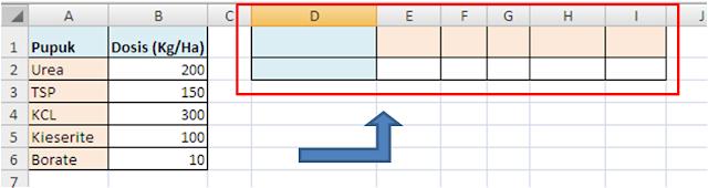 Cara Merubah Orientasi Kolom dan Baris Data Excel