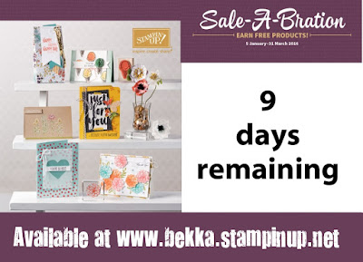 Take advantage of Sale-a-Bration from Stampin' Up! UK here - only available until the end of March 2016 so hurry!