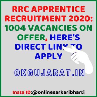 RRC Apprentice Recruitment 2020