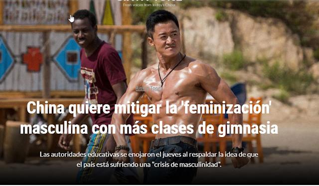 China quiere mitigar la 'feminización' masculina con más clases de gimnasia