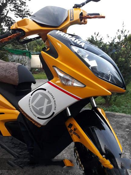 Sơn xe máy Nouvo LX tem đấu cực đẹp