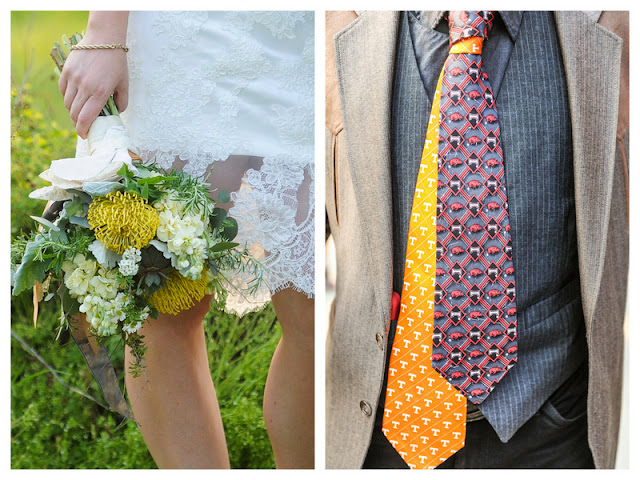 must-see yellow and grey modernly classic wedding at home | photos by miles witt boyer
