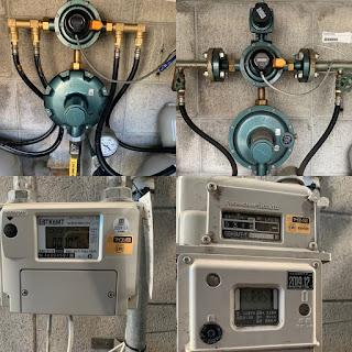 プロパンガス:ガス調整器とガスメーターの取替