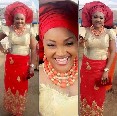 mercy aigbe traditional outfit