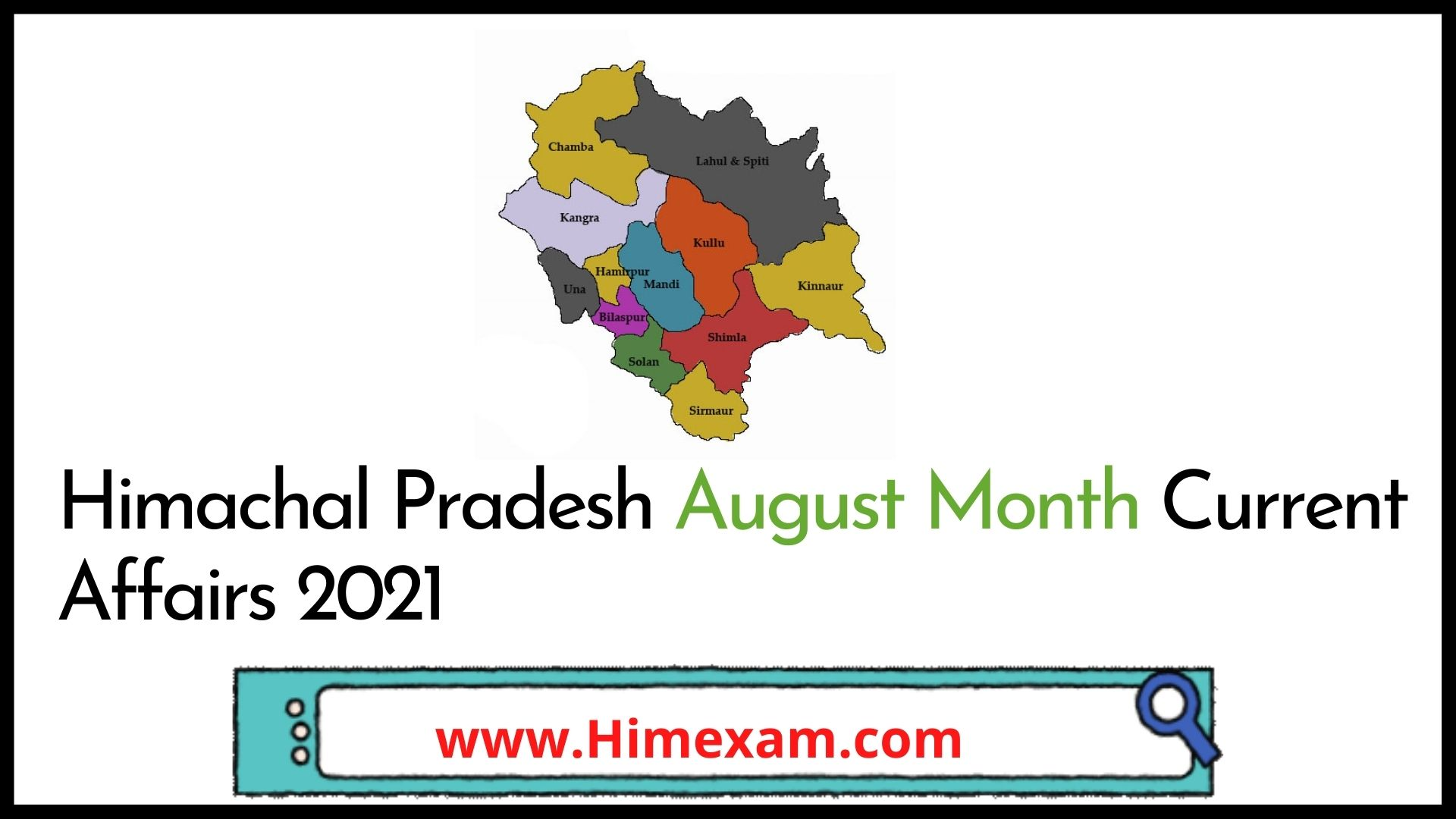 Himachal Pradesh August Month Current Affairs 2021