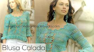 Bella blusa para tejer a Crochet