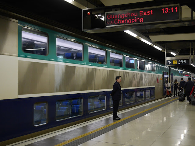 double-decker Ktt train at Hung Hom Station in Hong Kong