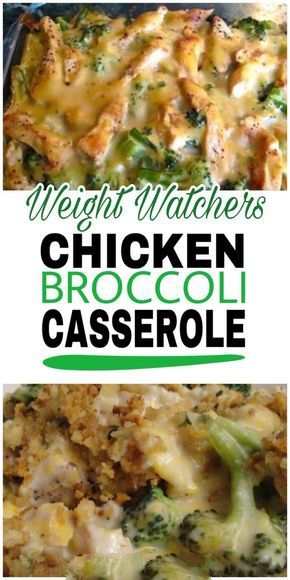 This healthy casserole is filled with chicken, broccoli and mushrooms in a creamy & light sauce.