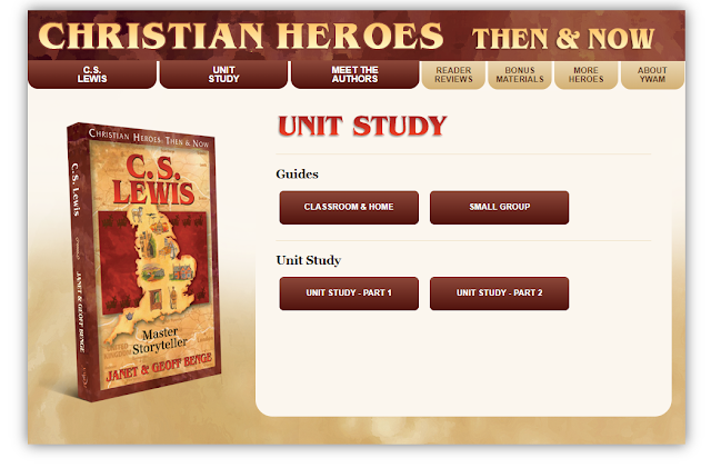 C. S. Lewis Master Storyteller Unit Study intro screen capture