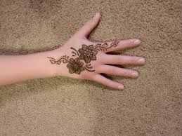 Sweet Flower Design Mehndi For Kids! Art Magazine