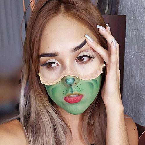 Maquillaje de fx o efectos especiales del Grinch