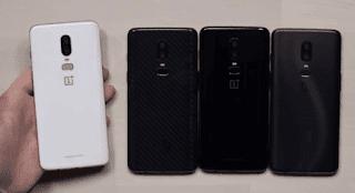 OnePlus 6 Silk white Mirror Black Midnight Black Avenger Version