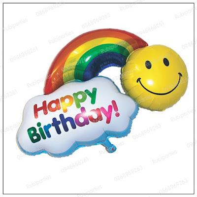 bong hinh cau vong happy birthday