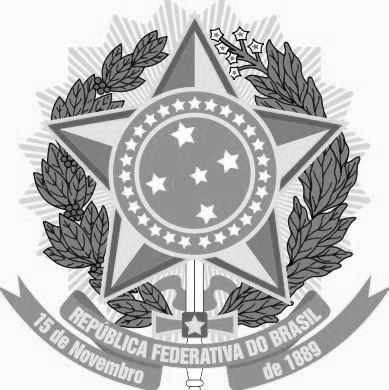 Dibujo del escudo de Brasil en grises