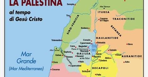 Cartina Politica Palestina.La Palestina Al Tempo Di Gesu E Altro Cartina