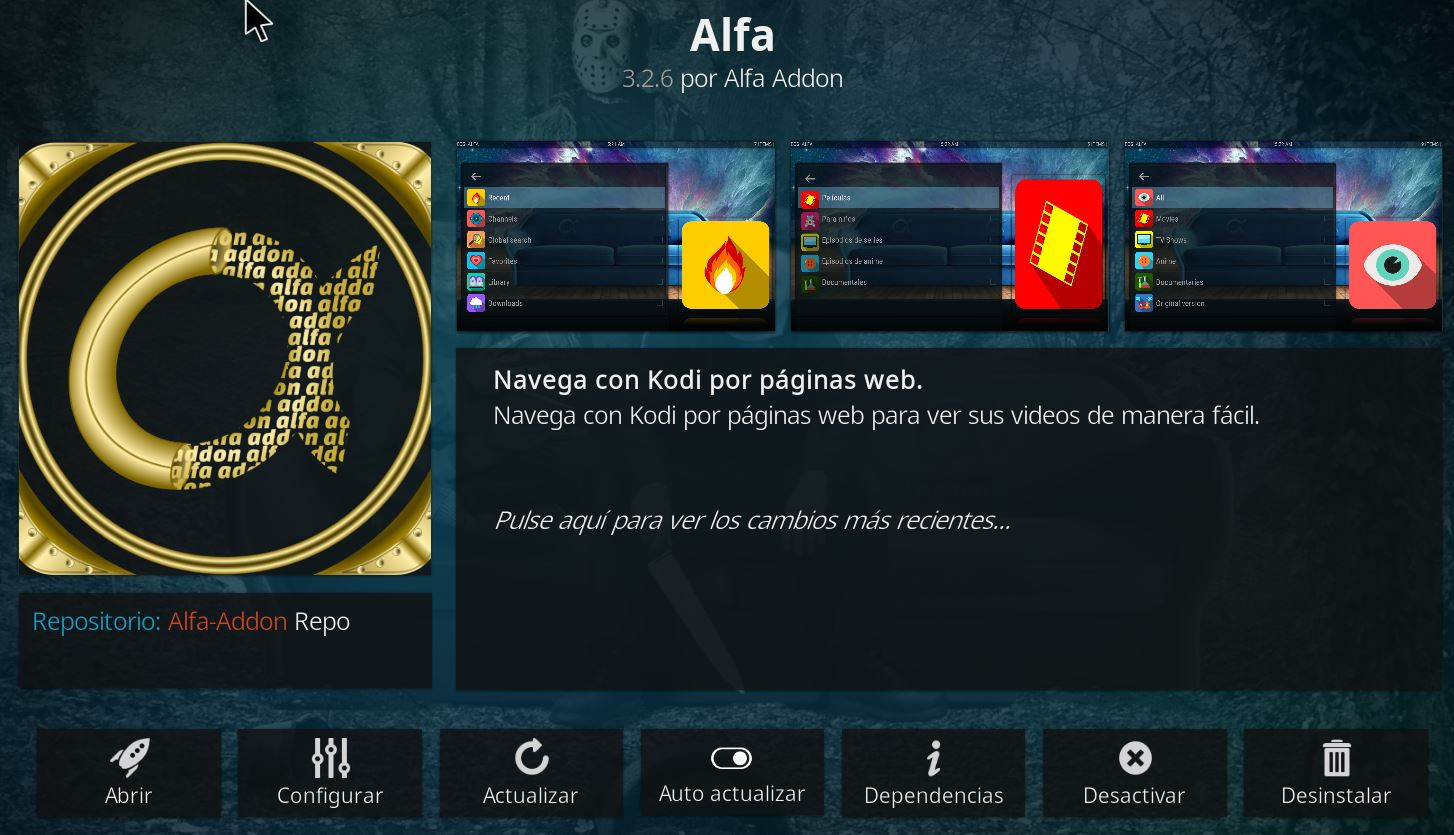 Descarga ALFA Addon 3.2.6