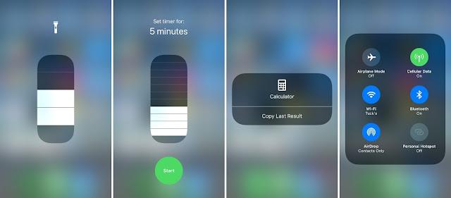 cara menyesuaikan control center di iOS 11