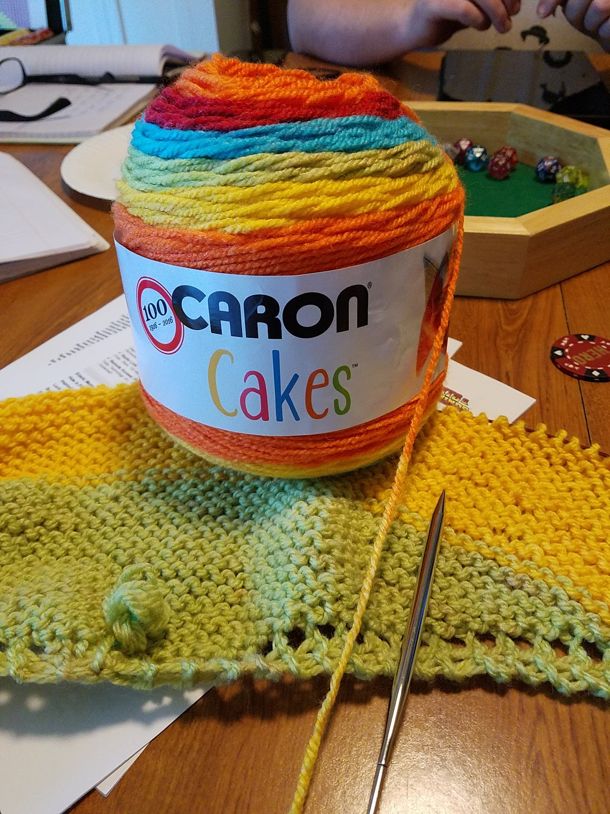 Becca's Crazy Projects: Big Knitting with Caron Cakes