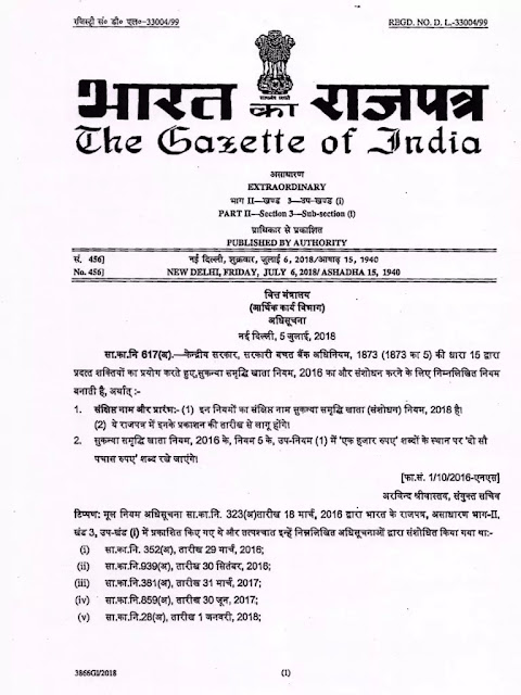 sukanya-samridhi-yojna-minimum-subscription-notification
