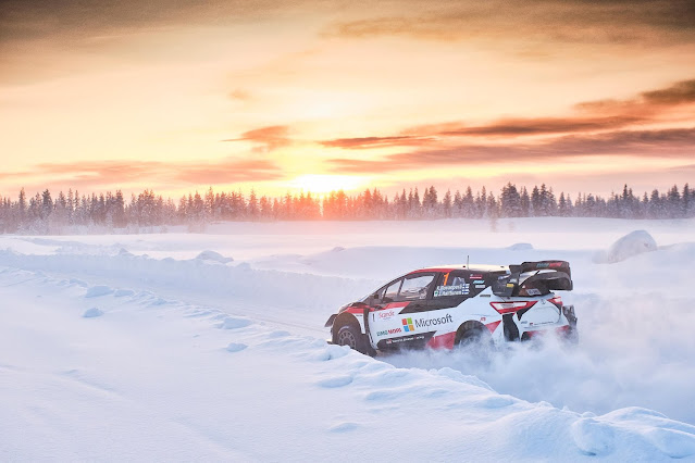 Toyota Yaris wrc on snow in arctic circle