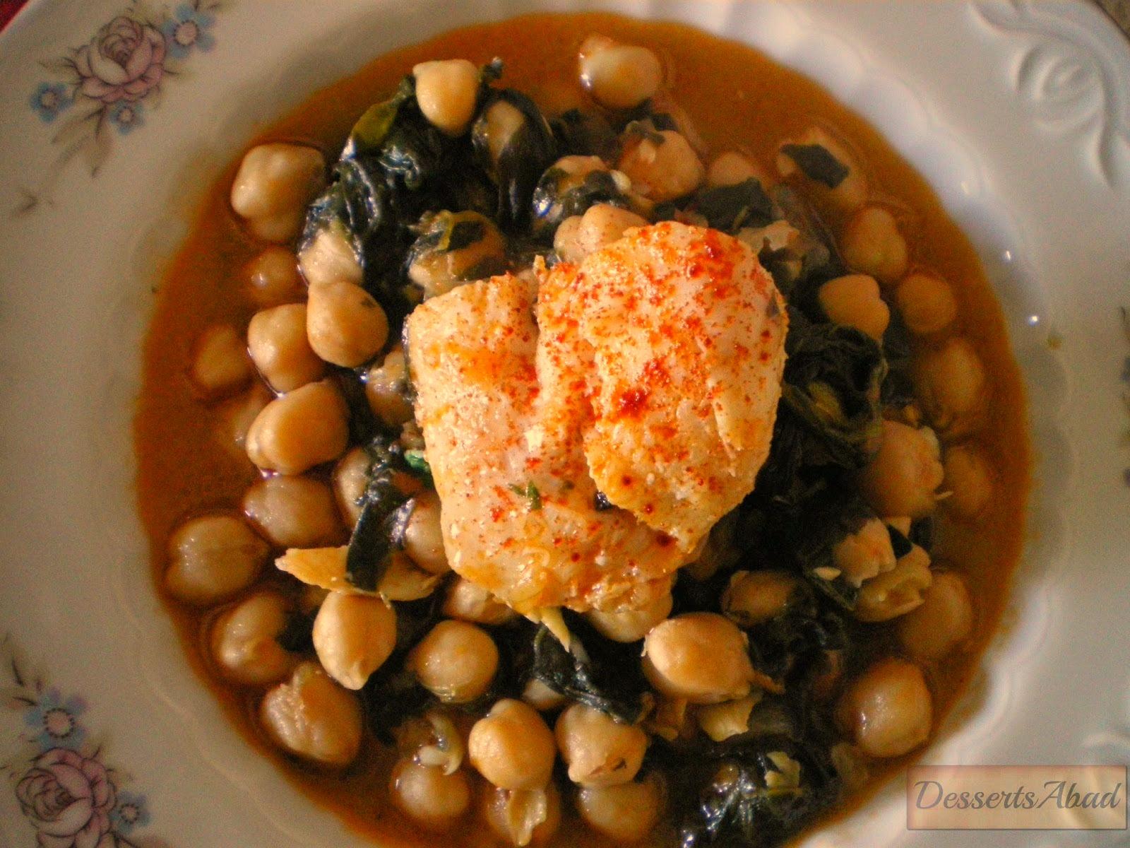 Dessertsabad garbanzos con bacalao y espinacas potaje de - Potaje con bacalao y espinacas ...