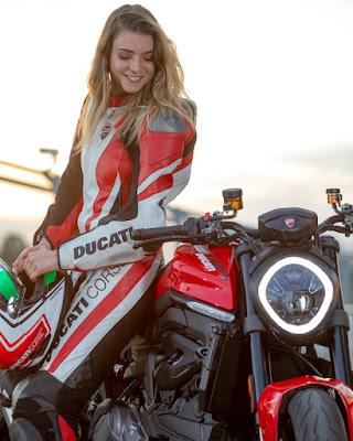 Mariaelena Caizzi Ducati Monster