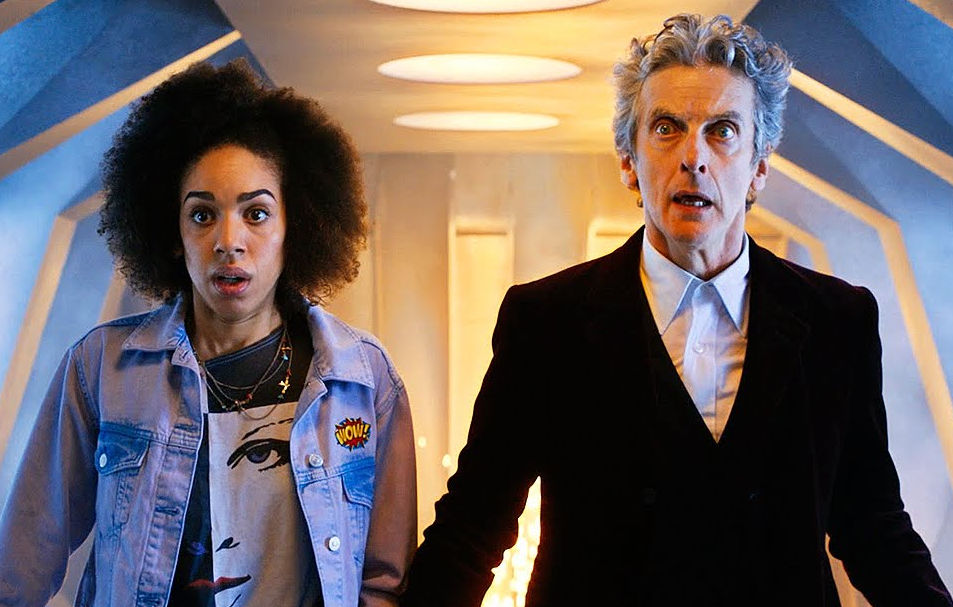 [Bill and the Doctor running through corridors]