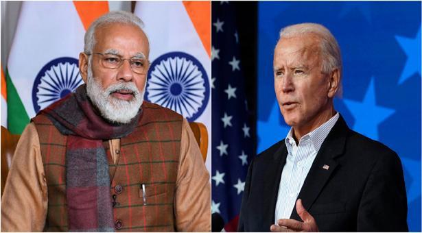 Narendra Modi and Joe Biden have spoken on the telephone