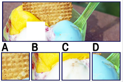 Figure: Doesn't this look Tutti Fruitti?! Which is the right piece?