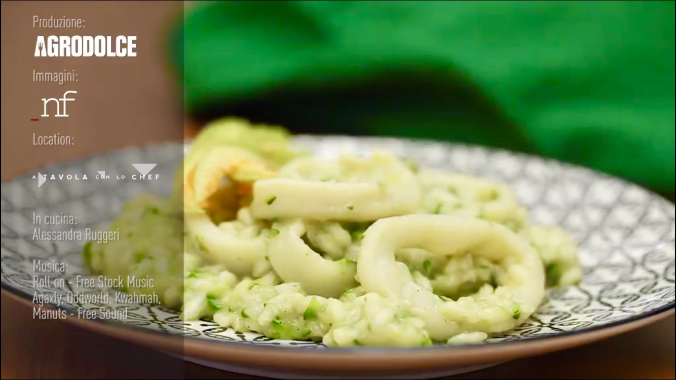 risotto zucchine e calamari alessandra ruggeri