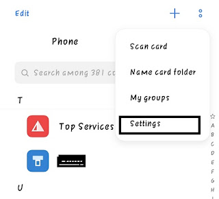 Contacts Setting