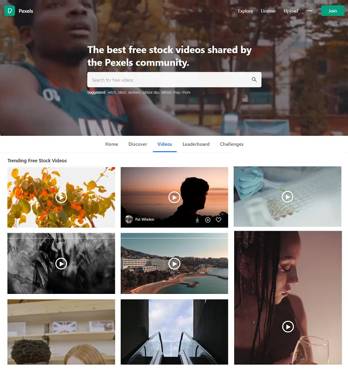 Pexels allows to download free videos for your blog and commercial use