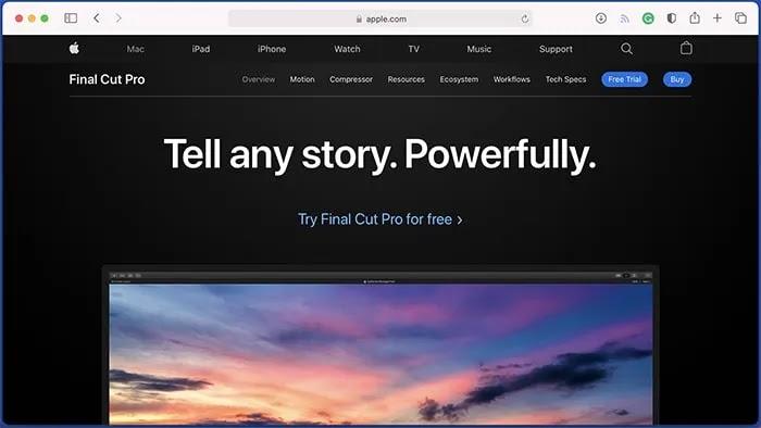 أفضل برامج تحرير الفيديو لنظام التشغيل Mac Final Cut Pro