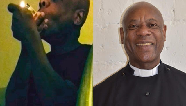 See Reverend Father caught smoking and snorted cocaine