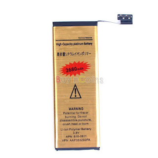 3.8V 2680mAh Internal Replacement Li-ion Polymer Gold Battery for iPhone 5