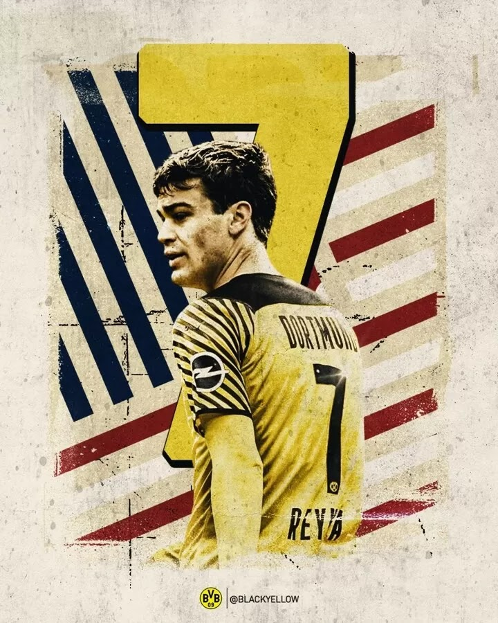 Reyna takes over Dortmund's No.7 after Sancho departure