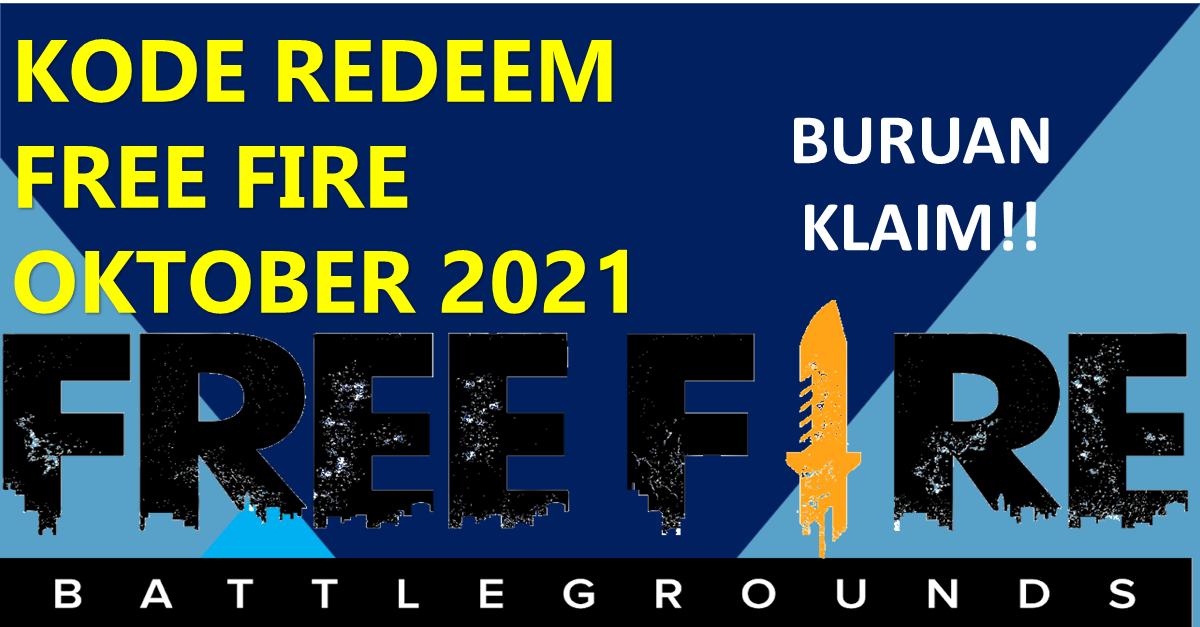 Kode Redeem FF Free Fire Selasa 5 Oktober 2021