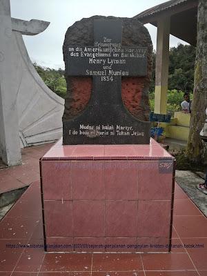 monumen peringatan munson dan lyman di lobu pining