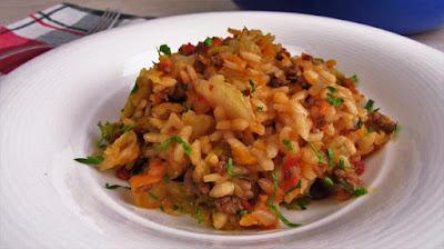 Kupus - riža - meso - Rustikalno ukusno jelo / Cabbage -rice -meat - Rustic tasty lunch