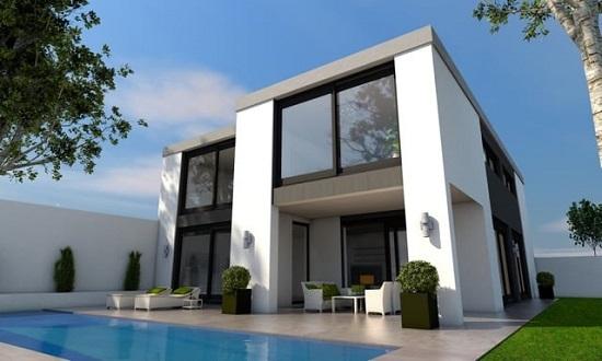 Rumah menggunakan kusen aluminium