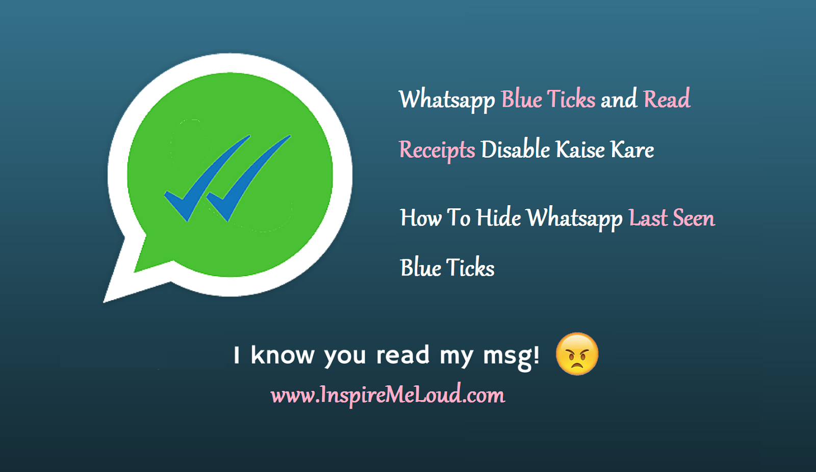 WhatsApp Blue Ticks and Read Receipts Disable kaise kare