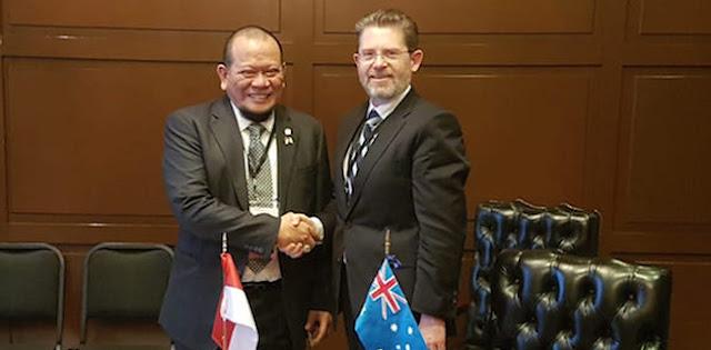 Kepada Delegasi DPD, Presiden Senat Australia Kembali Tegaskan NKRI Harga Mati