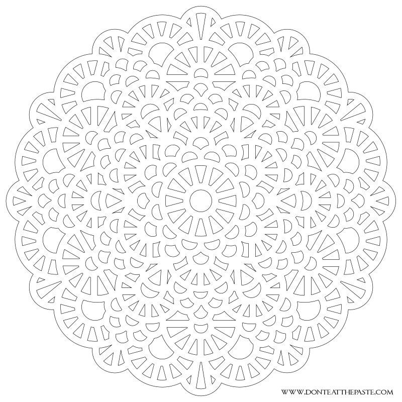 Don't Eat the Paste: Crochet Inspired Mandala