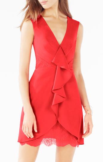 vestidos rojos para damas de honor