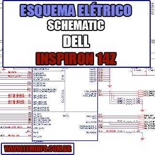 Esquema Elétrico Manual de Serviço Notebook Laptop Placa Mãe Dell Inspiron 14z  Schematic Service Manual Diagram Laptop Motherboard Dell Inspiron 14z Esquematico Manual de Servicio Diagrama Electrico Portátil Placa Madre Dell Inspiron 14z