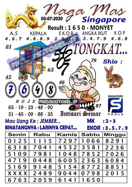 Syair Nagamas Singapura SGP Minggu 05 Juli 2020