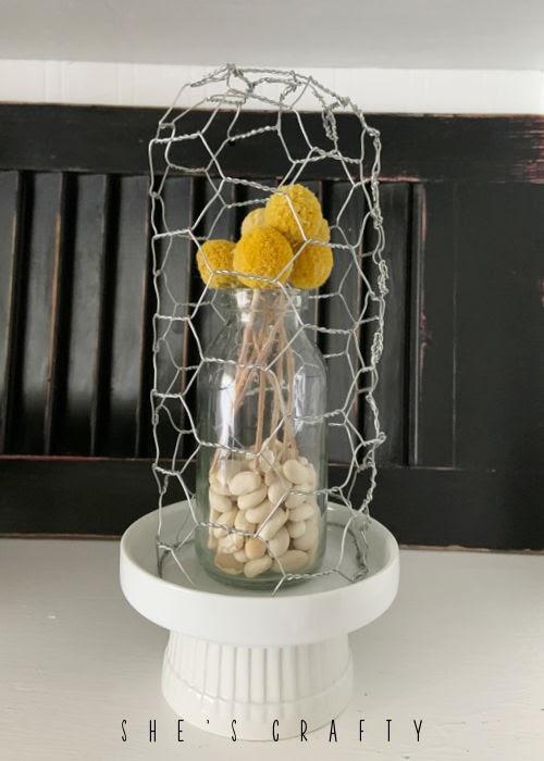 Chicken Wire Cloche Flower Décor for Spring